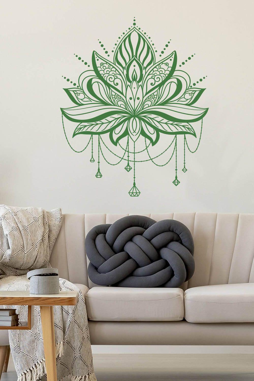 Wandtattoo Lotus Mit Ketten Dekor Haus Deko Wandtattoo Mandala