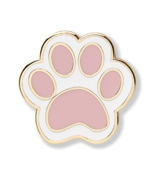Pet Paw Print with Love Heart Lapel Pin Pets Paw Metal Enamel Lapel Pin Badge