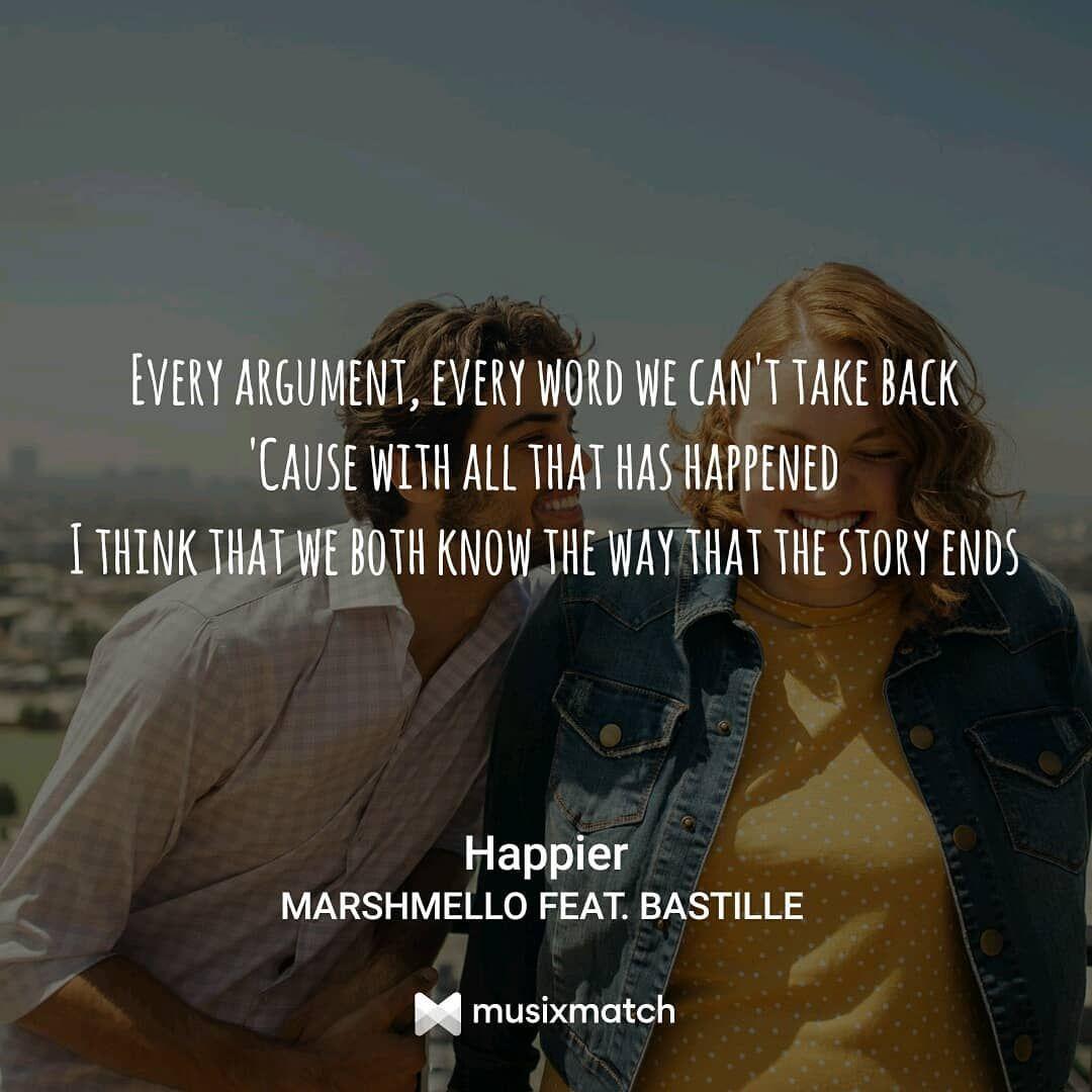 Marshmello Bastille Happier: #happier #marshmello Ft #bastille #song #quotes