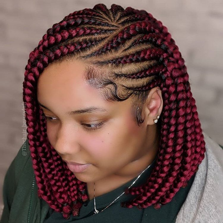 Nigerian Braids Gang Sur Instagram Braided Bob Thechair Beautyloft Bob Box Braids Styles Bob Braids Hairstyles African Braids Hairstyles