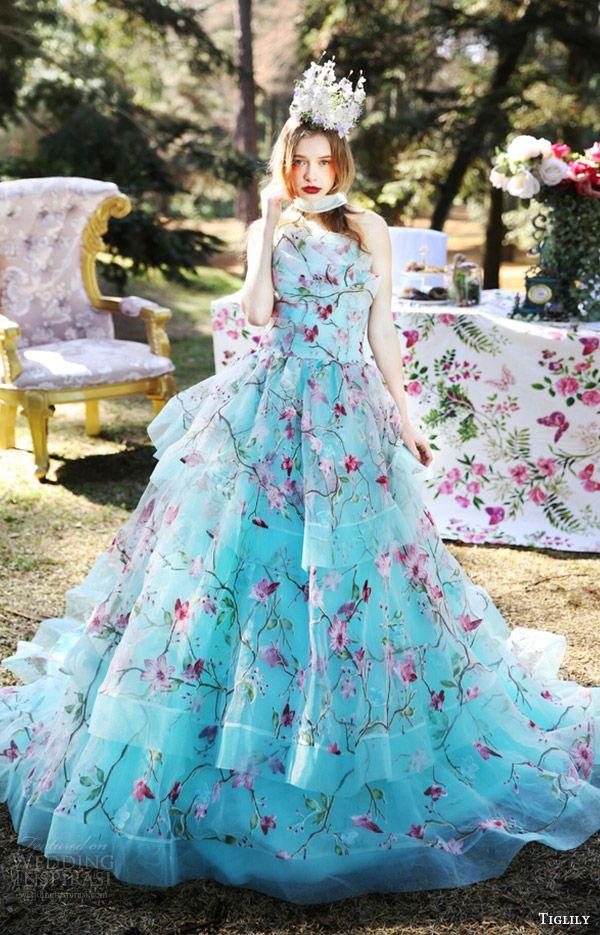 4f600a88db8fa TIGLILY bridal 2016 strapless crumbcatcher ball gown wedding dress (julia)  mv turquoise color romantic #bridal #wedding #weddingdress #weddinggown ...