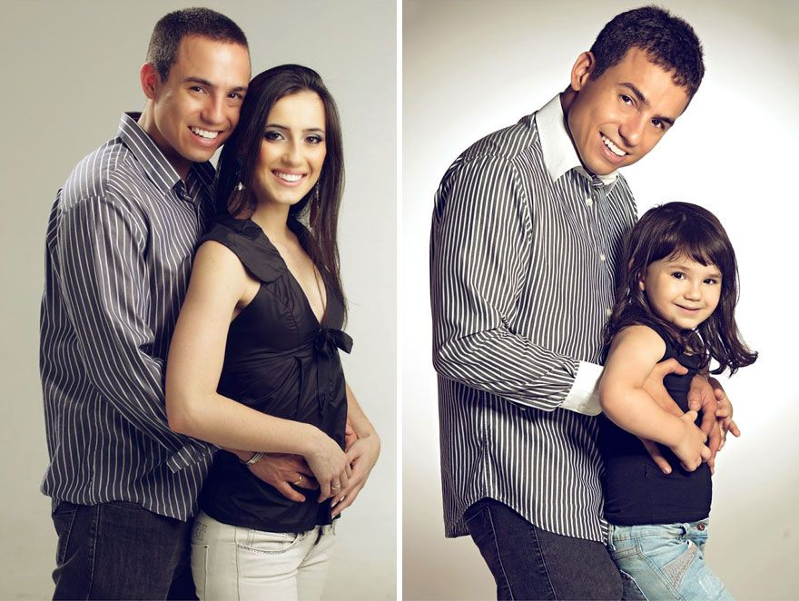 Man Recreates Photos Of His Late Wife With His 3-Year-Old