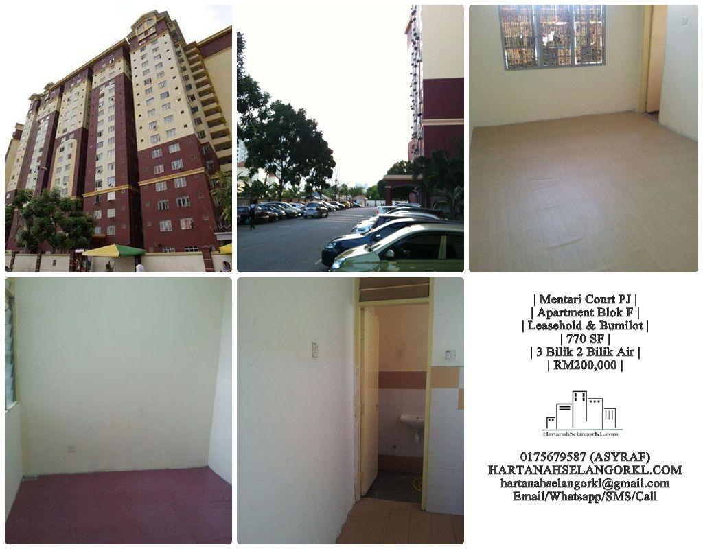 Petaling Jaya Mentari Court Blok F Tingkat 11 untuk Dijual