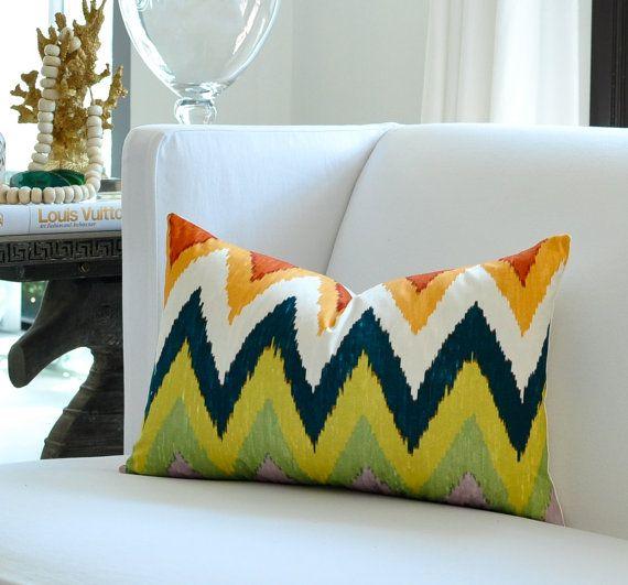 Caravan Sofa Orange Velvet Upholstery Furnishing Blind Fabric Cushion