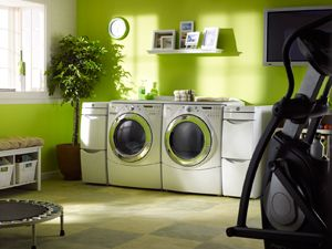 oooo laundry room and workout room all in one  laundry