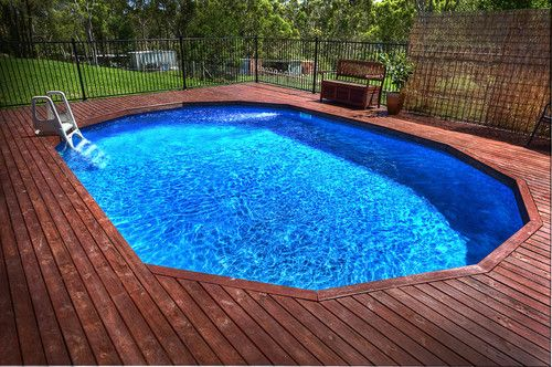 Above Ground Swimming Pool Ebay Backyard Pool Above Ground Swimming Pools Backyard Pool Landscaping