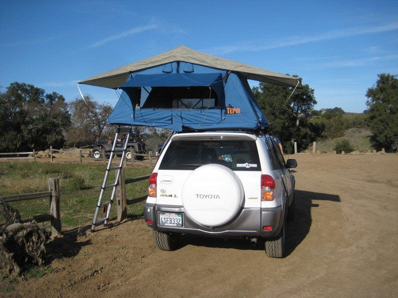 Ayer roof top tent on Toyota rear view - Blue & Ayer roof top tent on Toyota rear view - Blue | 4runner ...