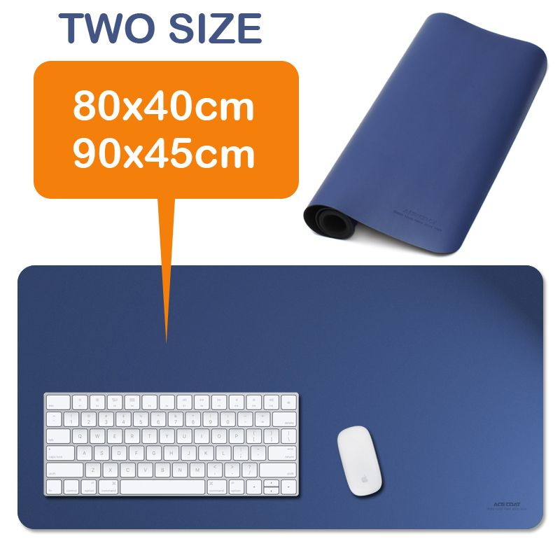Large Mouse Pad, Leather Desk Pad Extent Mouse Pad Gaming Mouse Pad Office  Desk Mat (Blue Red Black)