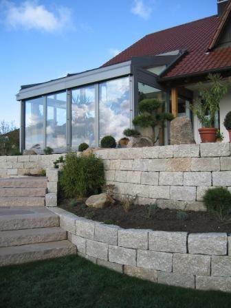Feuchter Natursteine - Mauersteine handversetzbar #modernegärten