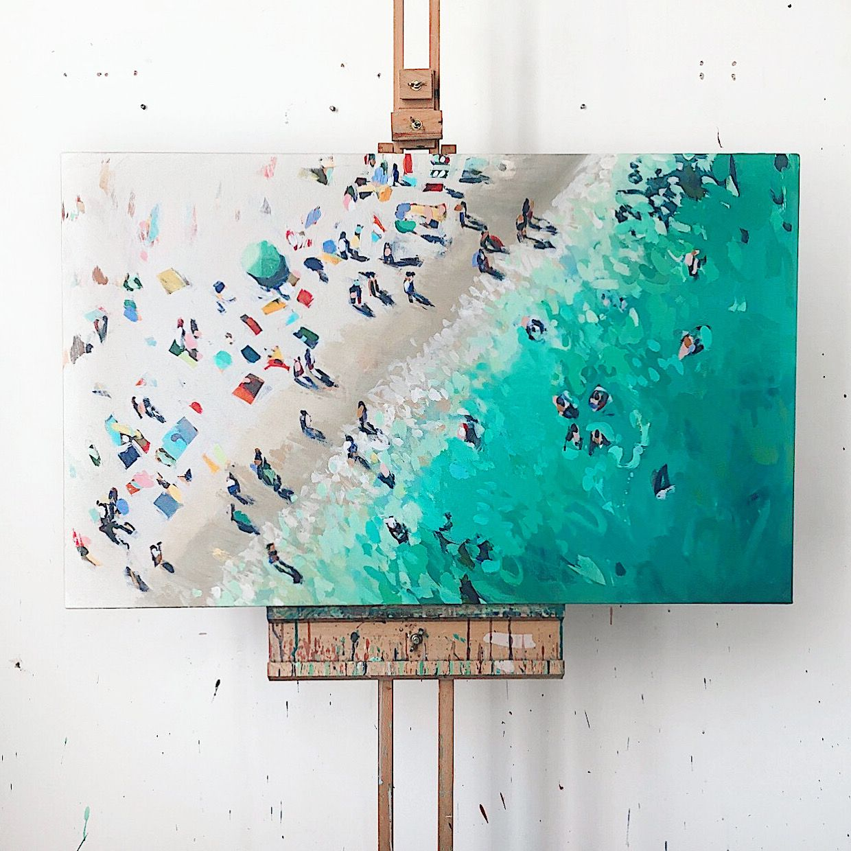 Oceans Above Painting By Nina Brooke In 2020 Beach Art Painting Beach Painting Ocean Print