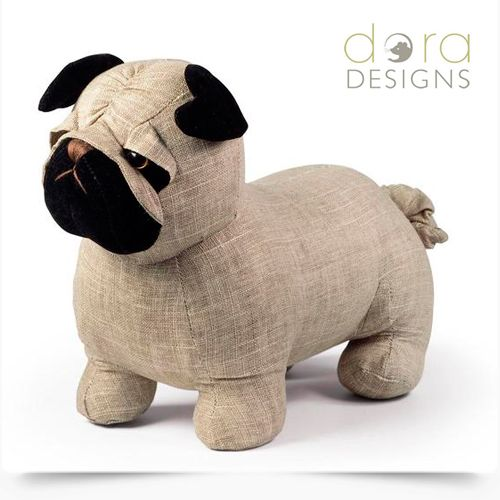 Dora Designs Bogart The Pug Door Stop Save 10 Online Now