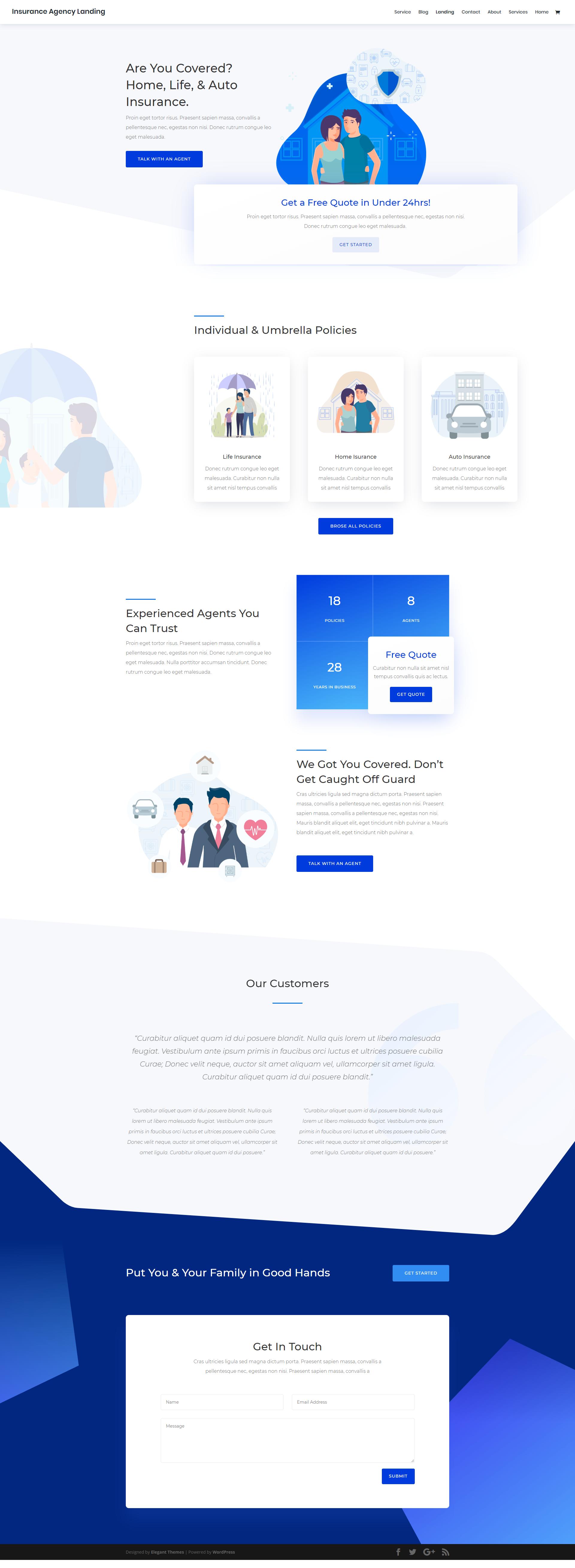 Insurance Agency Agency Website Design Insurance Website