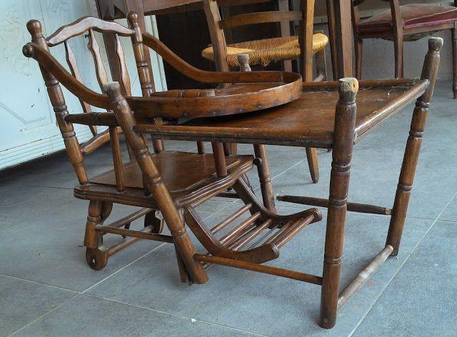 Chaise Haute Enfant Facon Bambou Thonet Ancienne A Systeme Pliante