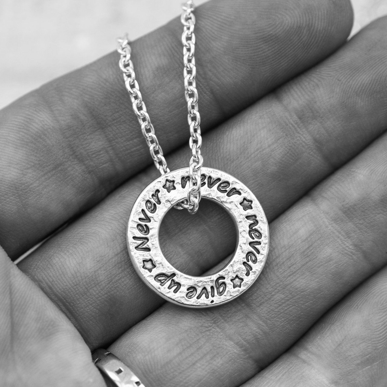 927166fcaf2c6 Personalised Washer Style Necklace | necklace | Fashion necklace ...