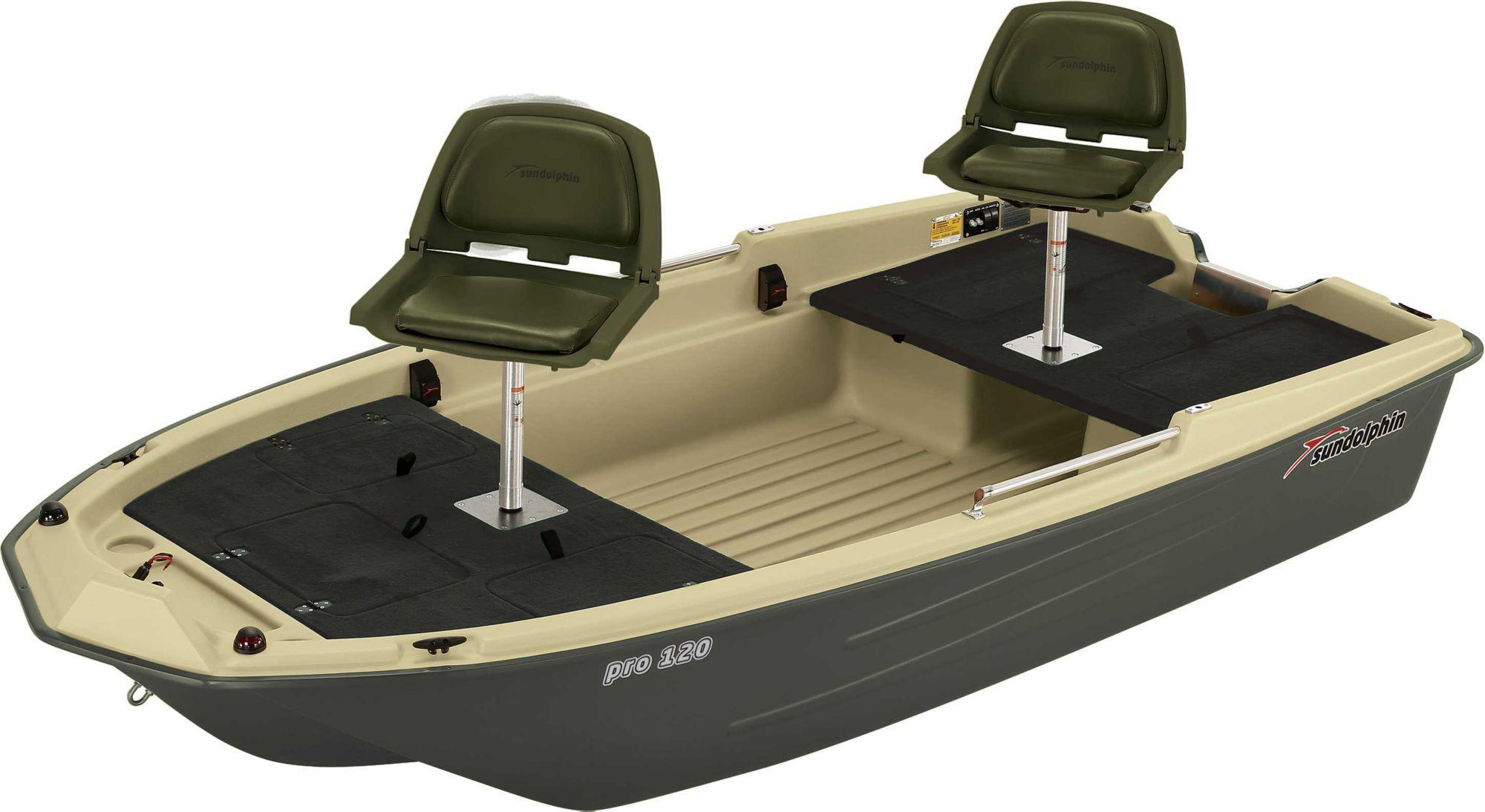 Sun Dolphin Pro 120 Fishing Boat, Green Small fishing