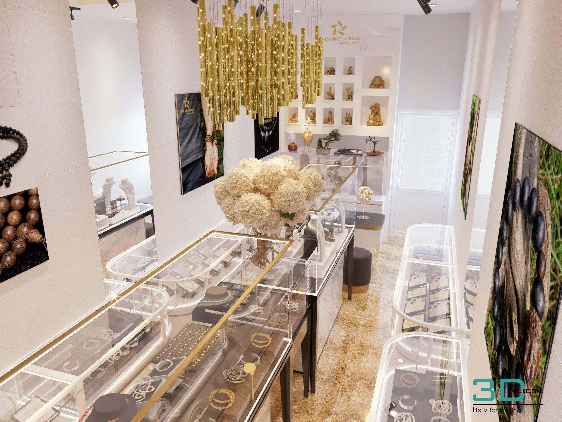 02 Jewelry Shop 3dsmax File Free Download Shop Interiors