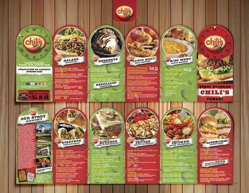 Pamphlet Design For Restuarants Design Ideas 10 Food Brochure Design  Examples Die Cut Food Brouchure