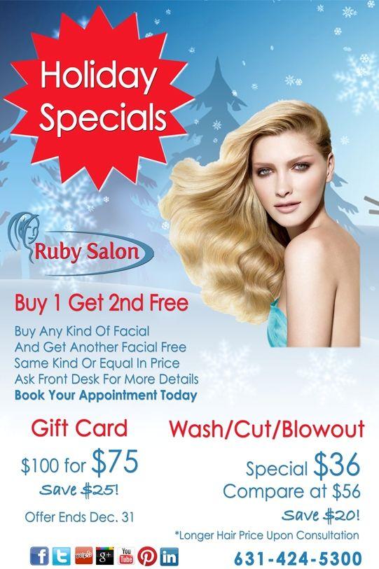 salon specials holiday specials
