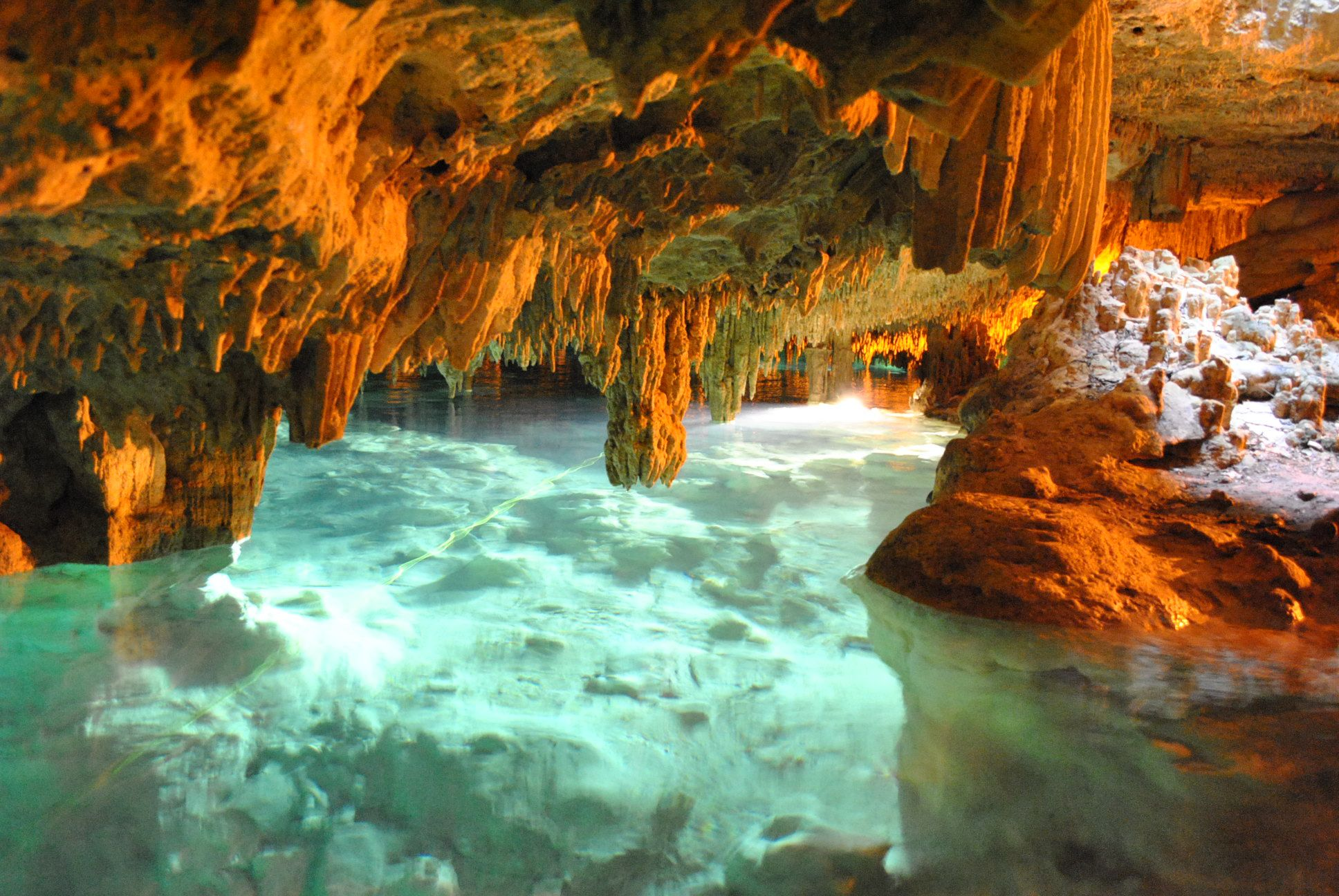 Underground cave we went snorkleing in near cancun mexico for Oficina xcaret cancun