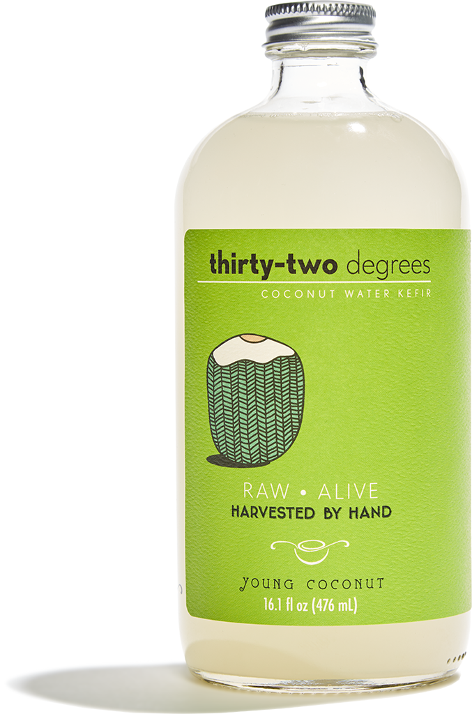 Thirty Two Degrees Young Coconut Water Kefir Coconut Water Recipes Water Kefir Coconut Water