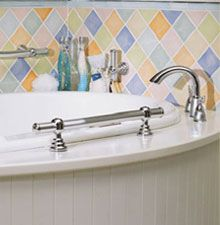 Bon Grab Bars On The Side Of A Whirlpool Tub Are Safe And Stylish