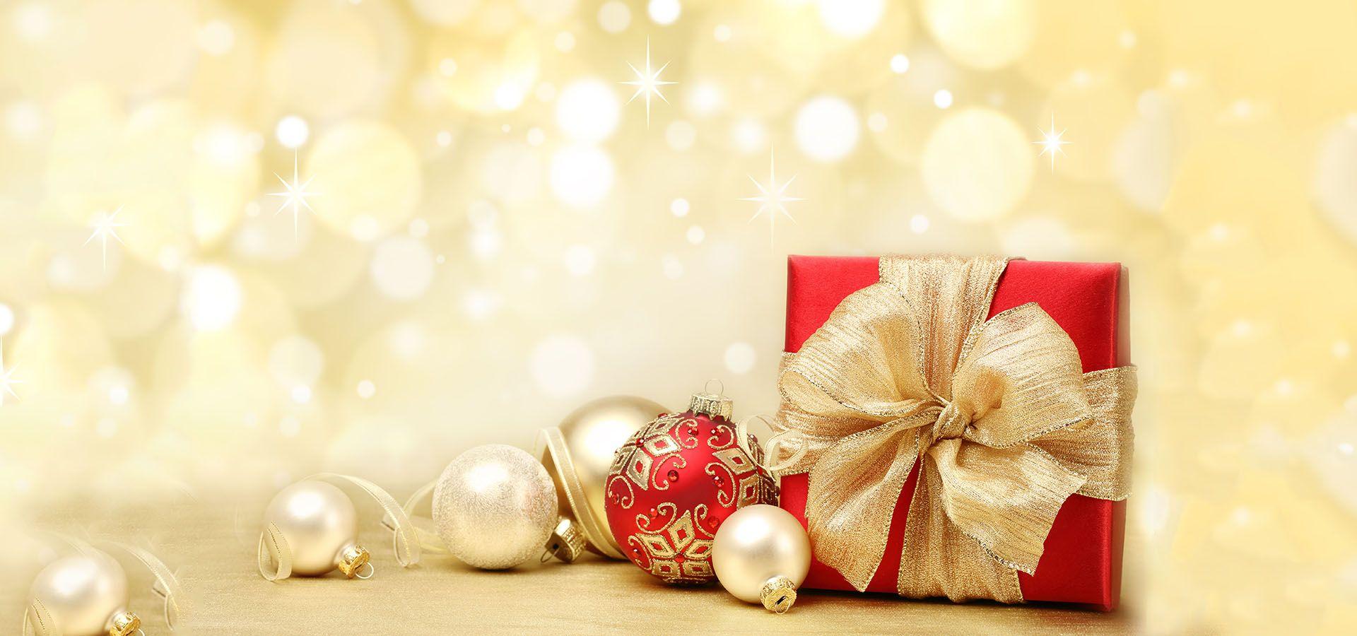 Golden Christmas Gift Background Christmas gift