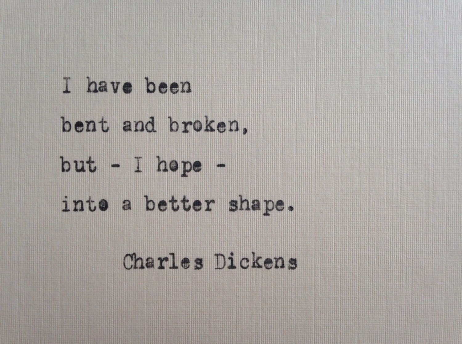 Charles Dickens quote hand typed on antique typewriter scrapbooking …