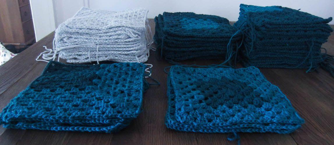 Crochet Pattern: Mod 9-Patch Blanket by   Manta y Camas