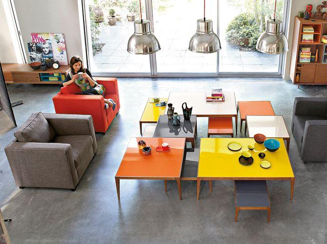 De la couleur ! / Colourful livingroom    wwwmaison-deco