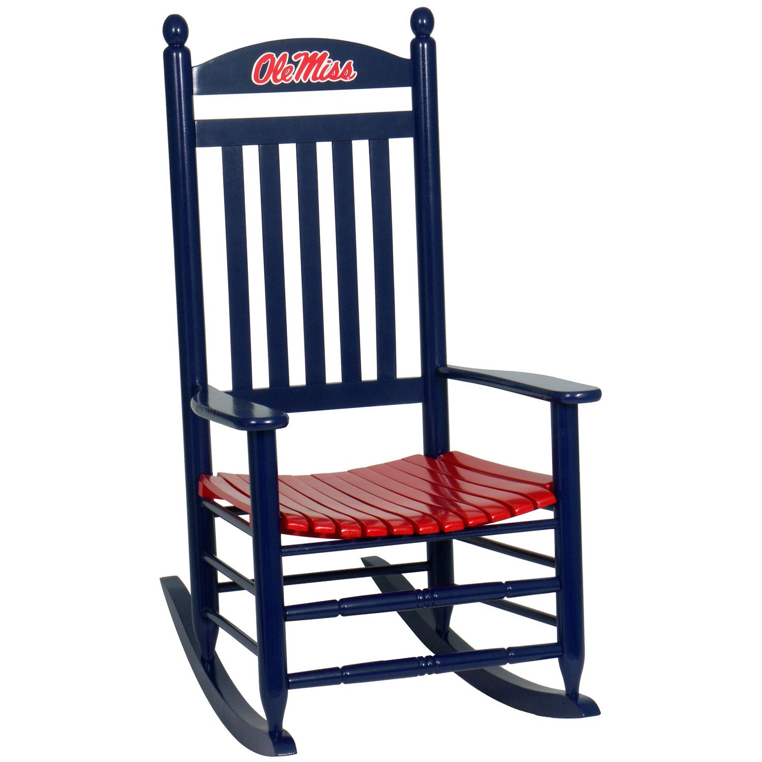 Ole Miss Rebels Rocking Chair   Navy Blue