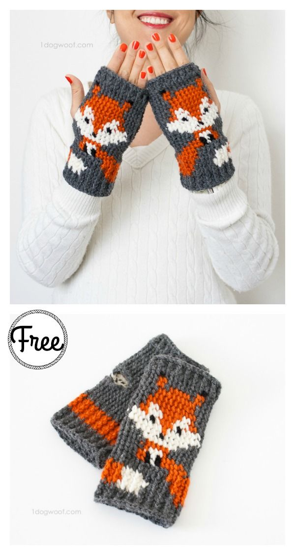 10+ Crochet Fox Patterns - Page 3 of 3 | Crochet Mittens and Gloves ...