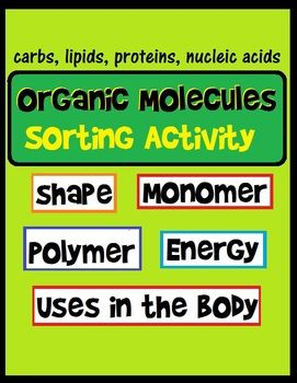 Organic Macromolecule Sorting Activity Organic molecules