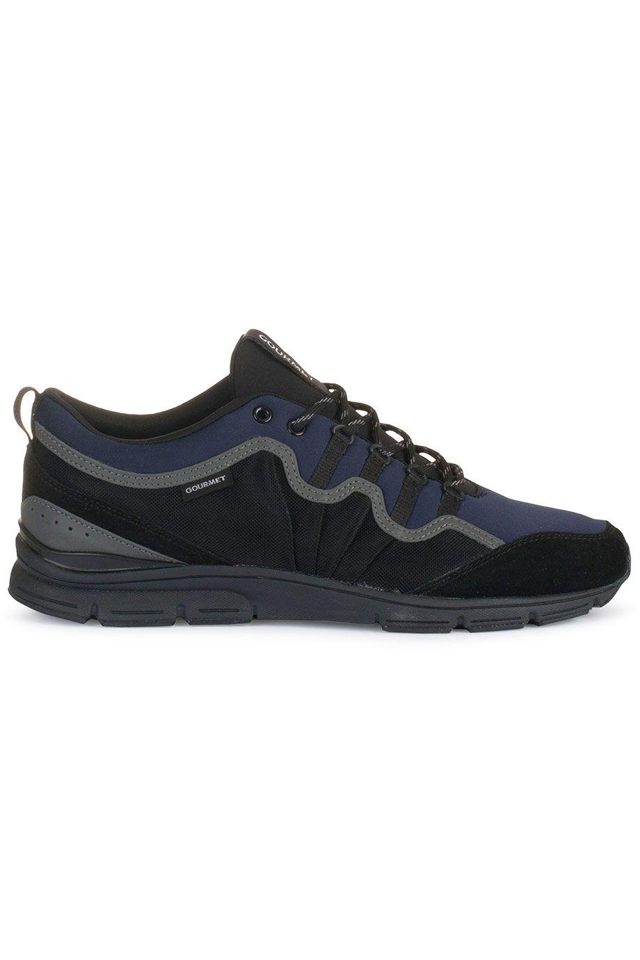 Trendy Gourmet NETTO (zwart) Heren sneakers van het merk gourmet . Uitgevoerd in zwart.