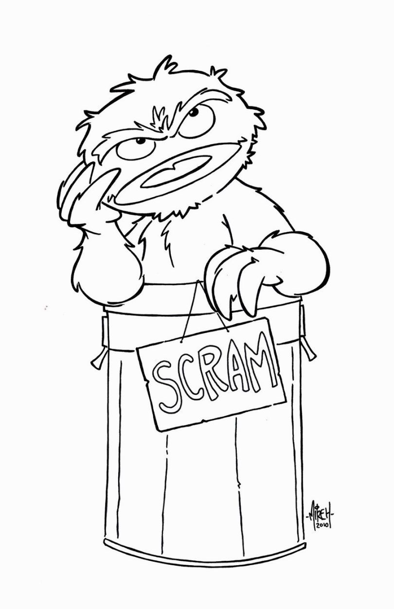 Oscar The Grouch Coloring Pages | Coloring Pages | Pinterest