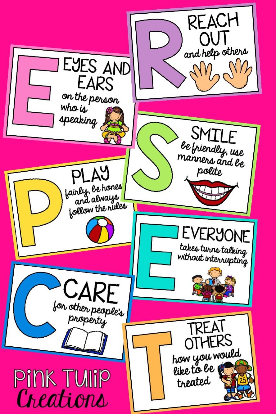 Respect Acrostic Poem Classroom Poster Display Teaching Respect Teaching Kids Respect Respect Classroom