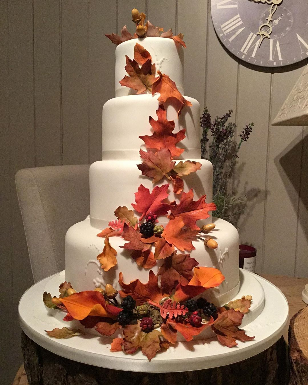 """The Wedding Cake on Instagram """"Autumn is here! A 4tier"""