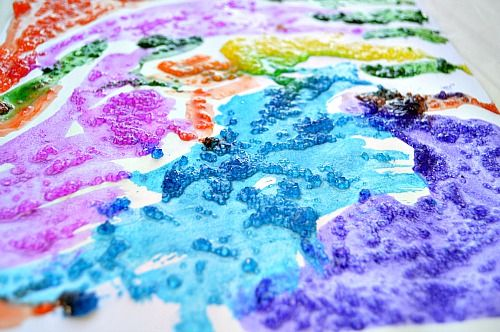 Art Activities Epsom Salt Painting Salt Painting Art