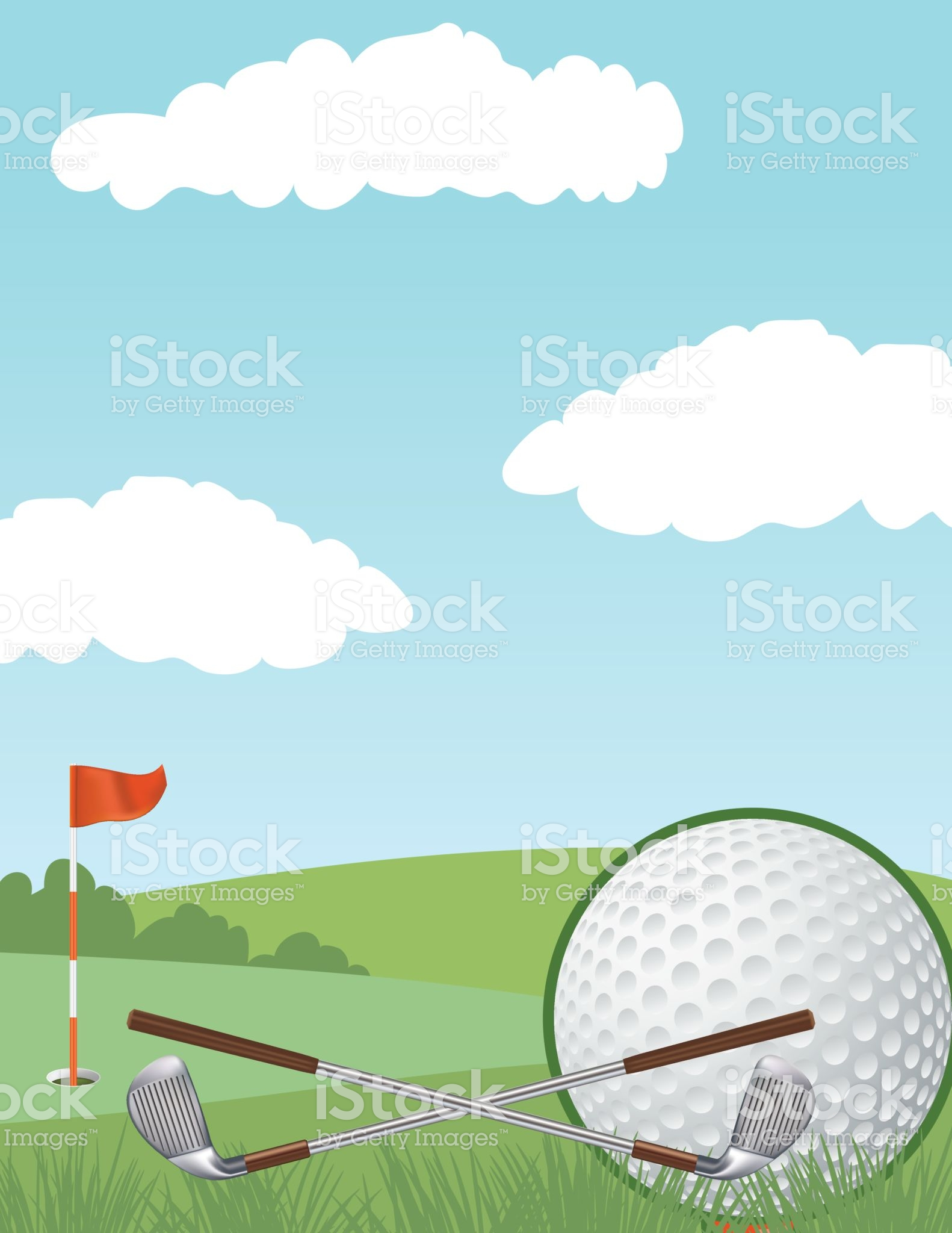 Golf Background Putting Green And Gold Ball There Is Room For Text Golf Tournament Teaching Posters Golf Fundraiser