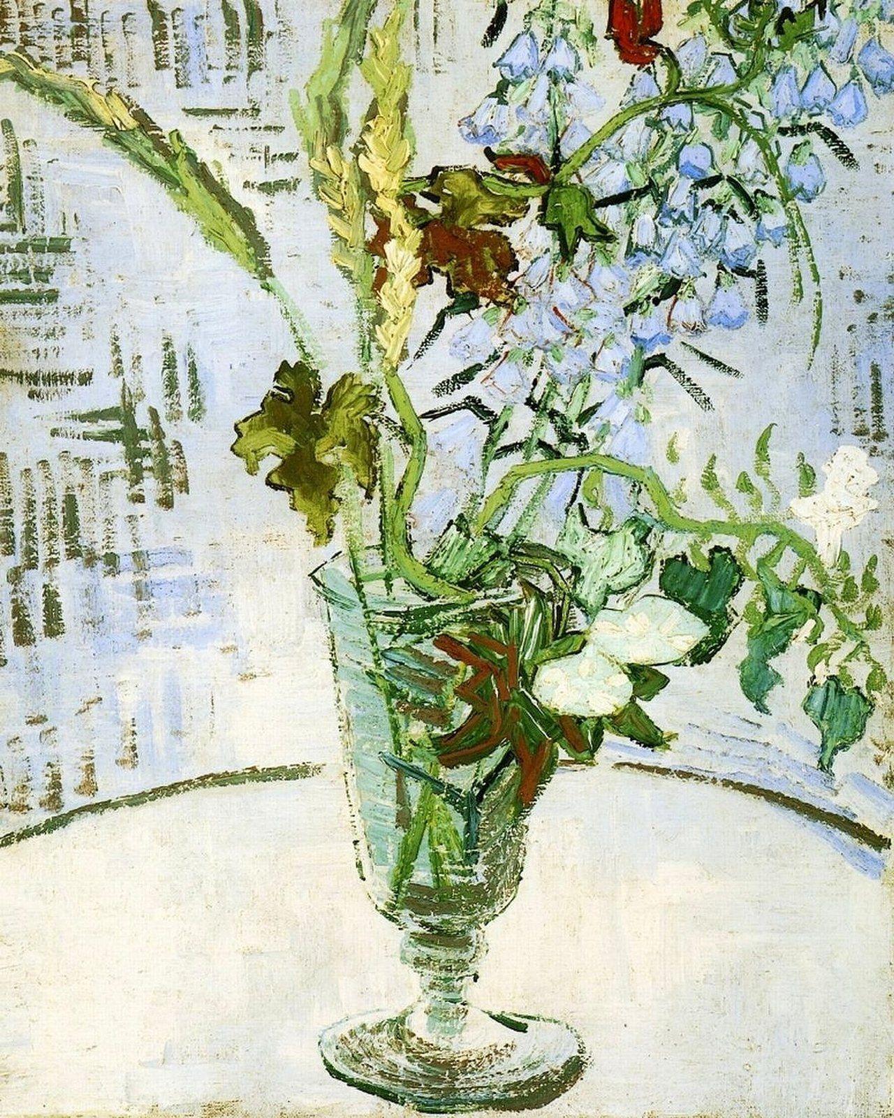 Flowers by post vase - 1890 Van Gogh Flowers In A Vase The Blonde In The Pic