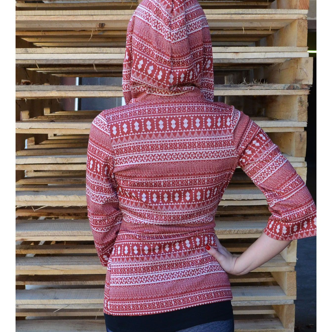 Woodland Trails Rust Tribal Hooded Cardigan | Amazing Lace. In ...
