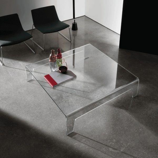 table basse design carrée en verre - frog sovet® | frogs, tables