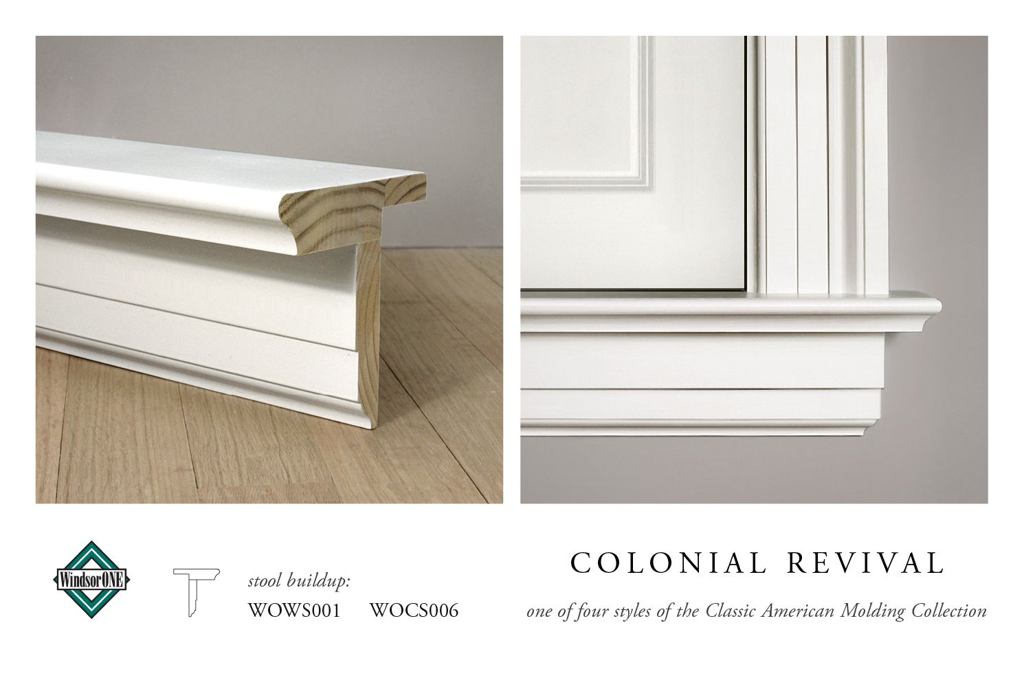 Colonial Revival Moldings 20th Century Style Interior Window