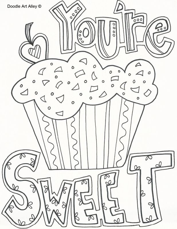 Free Valentine Doodles from Doodle Art Alley | Valentines ...