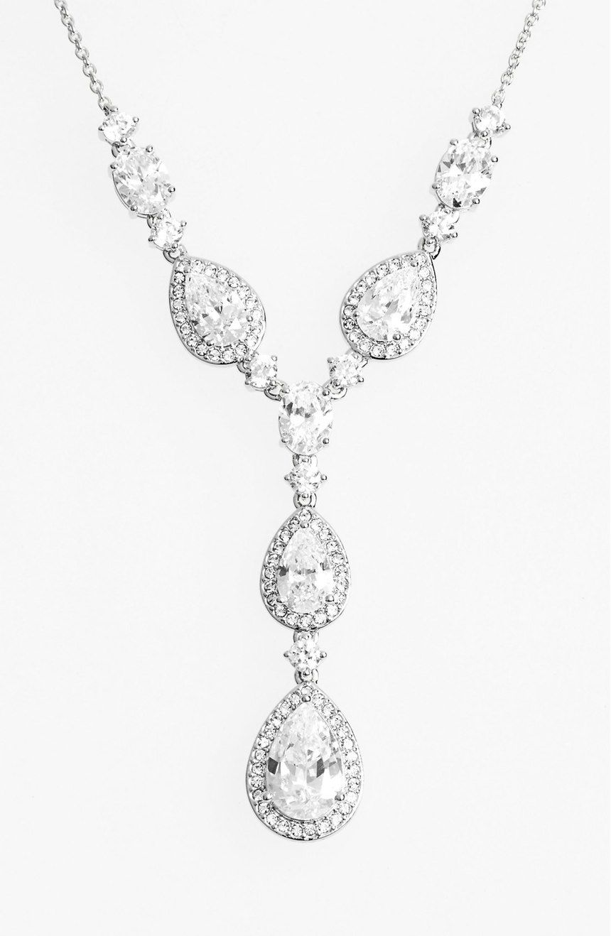 Nadri Cubic Zirconia YNecklace Nordstrom Wedding jewelry