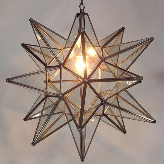 Moravian clear glass star light lights dining lighting and open moravian clear glass star light lights dining lighting and open living area mozeypictures Choice Image