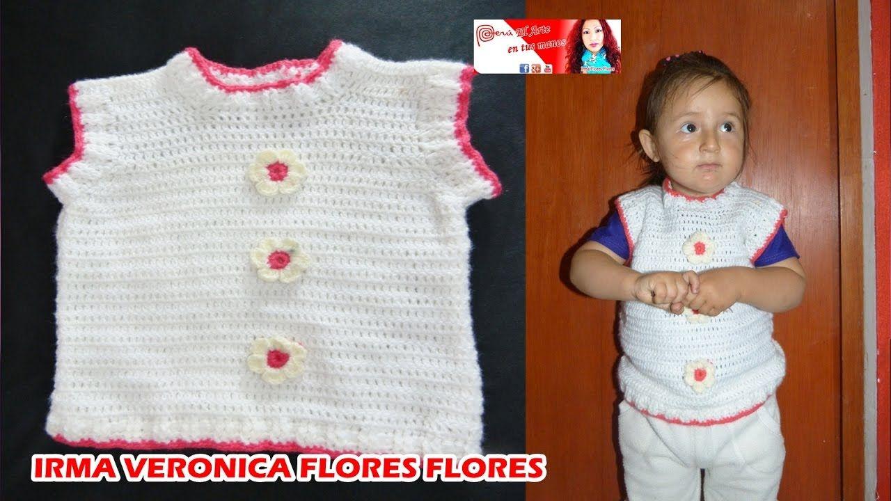 Chaleco Pullover Para Bebe Tejido A Crochet Para Principiantes En