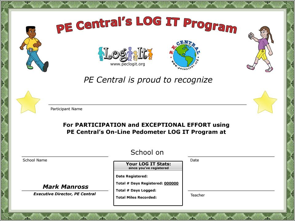 Printable Award Certificates for Teachers Log It Feature - certificate of participation free template