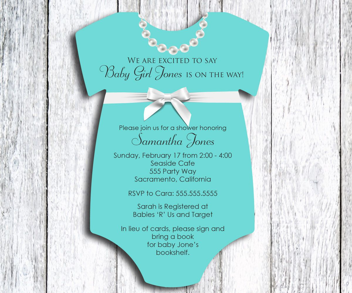 Robin\'s Egg Blue Baby Shower Invitation - set of 30 - Jewelry Box ...