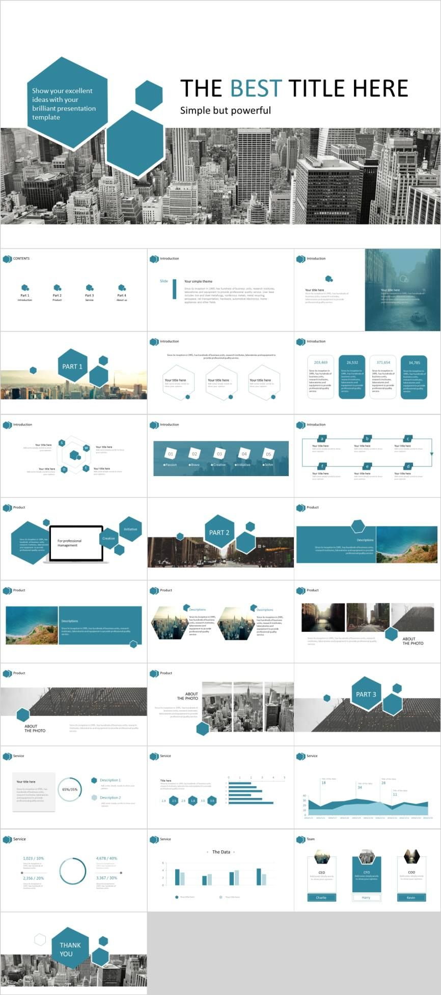 Simple And Powerful Powerpoint Template Pcslide Com Presentation Powerpoint Design Infographi Simple Powerpoint Templates Powerpoint Templates Powerpoint
