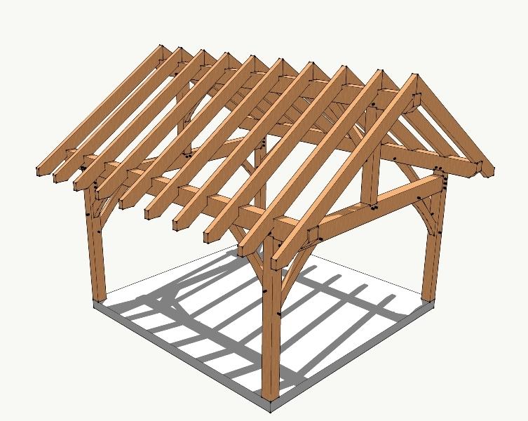 16x16 Timber Frame Plan Greenhouses Gazebo Plans How